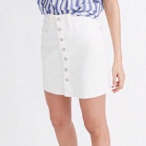 {Madewell} Stretch Denim Straight Miniskirt